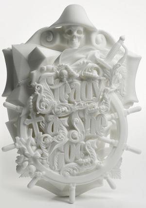 Скульптурная модель «Так держать», изготовленная методом SLS печати, автор Лука Ионеску